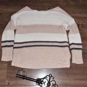 AEO womens small   striped open knit sweater shirt